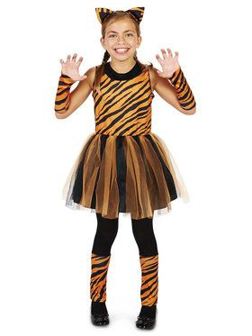 Cool Cat Tigeress Child Girl Costume