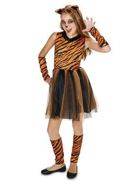 Cool Cat Tigeress Tween Costume