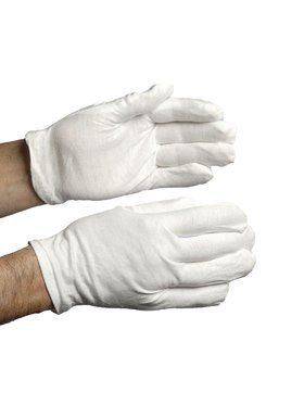 Cotton Clown Gloves - White