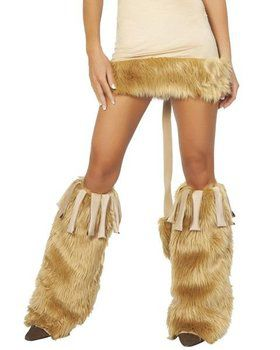 Courageous Lion Leg Warmers With Fringe
