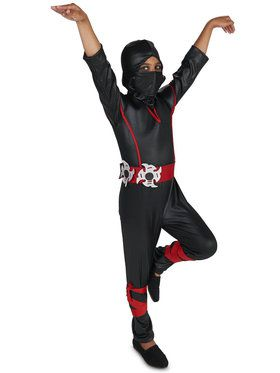 Child Covert Ninja Jumpsuit Costume