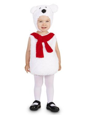 Cozy Polar Bear Child Costume