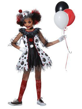 Creepy Girl Clown Costume
