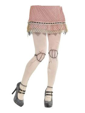 Creepy Doll Adult Tights