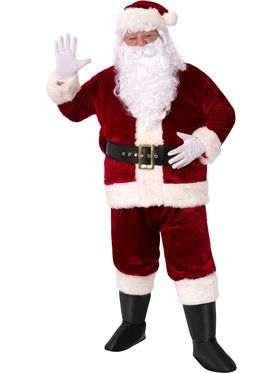 Crimson Imperial X-Large Plush Adult Santa Suit