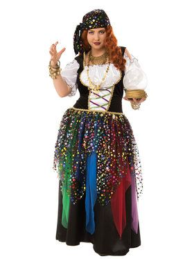 Women's Plus Size Curvy Gypsy Costume