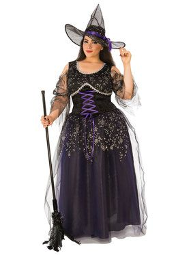 Women's Plus Size Midnight Witch Costume