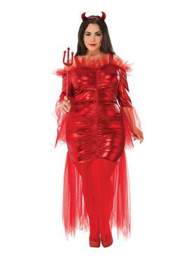 Curvy Red Devil (Plus) 16-22 Costume for Women