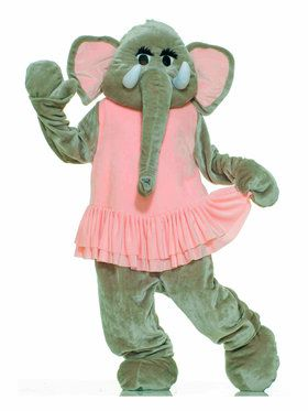 Cute Elephant Mascot - Adult Costume
