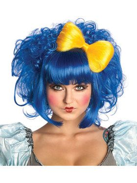 Cutie Doll Blue Adult Wig