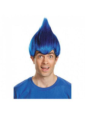 Dark Blue Troll Wacky Adult Wig