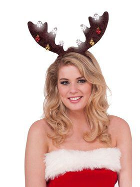 Dark Brown Light-up Antlers