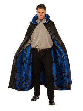 Dark Night Blue Cape Adult Costume