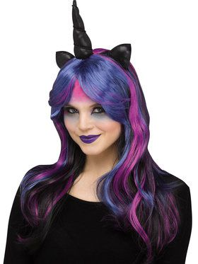 Unicorn Wig - Midnight Purple - Costume Accessory