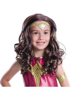 Batman v Superman: Dawn of Justice - Wonder Woman Wig For Girls