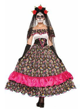 Day Of Dead - Spanish Lady - St Adult Costume