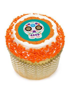 "Day of the Dead 2"" Edible Cupcake Topper (12 Images)"