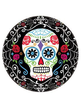 "Day of the Dead 7"" Dessert Plates (18 Pack)"