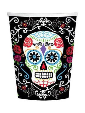 Day of the Dead 9oz Cups (18 Pack)