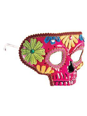 Pink Day of the Dead 2018 Halloween Masks