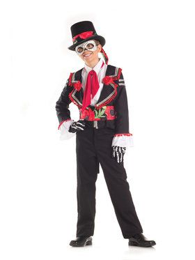 Day of the Dead Señor Child Costume