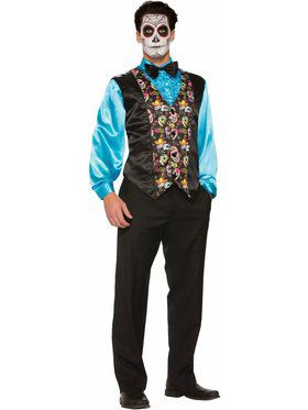 Day Of The Dead - Vest Adult Costume