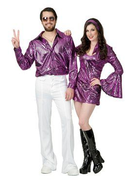 Dazzling Disco Shirt - Plus Costume