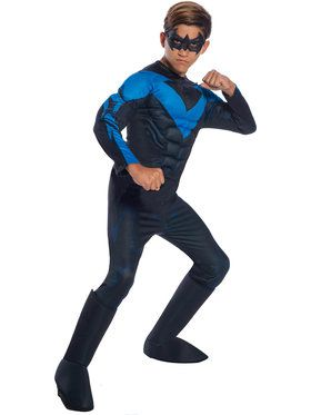 Dc Comics Boys Deluxe Nightwing Costume