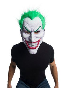 DC Comics: Joker Clown Mask with Hair