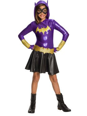 Girl's DC Super Hero Batgirl Hooded Dress Costume