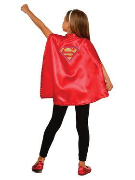 Girl's DC Super Hero Supergirl Cape Set