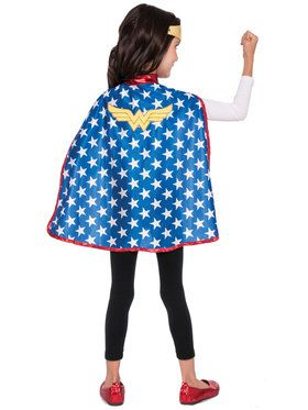 Girl's DC Super Hero Wonder Woman Cape Set