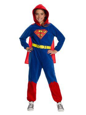 DC Super Heroes Superman Girl's Onesie Child Costume