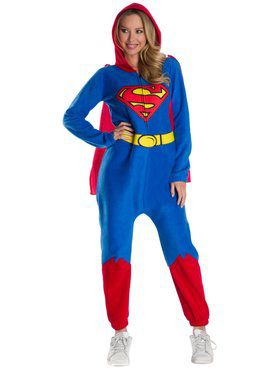 DC Super Heroes Superman Women's Onesie Adult Costume