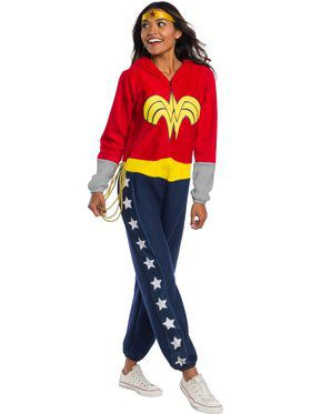 DC Super Heroes Wonder Woman Adult Onesie Adult Costume