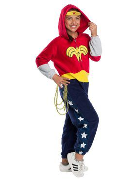 DC Super Heroes Wonder Woman Child Jumpsuit Child Costume