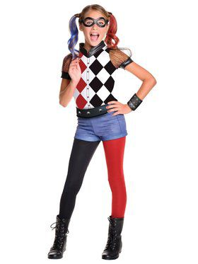 Girl's DC Superhero Girls Harley Quinn Deluxe Costume