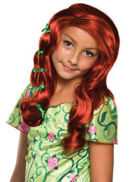 DC Superhero Girls Poison Ivy Wig for Kids