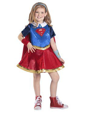 Girl's DC Superhero Girls Supergirl Deluxe Costume