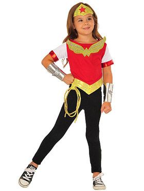 Girl's DC Superhero Girls Wonder Woman Costume Kit