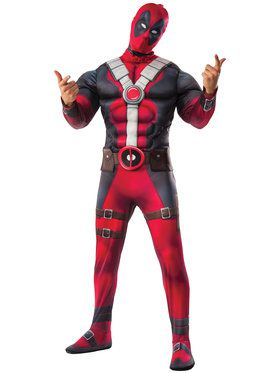 Deluxe Deadpool Costume for Adults