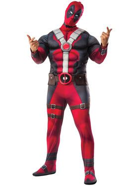Adult Plus Deluxe Deadpool Costume