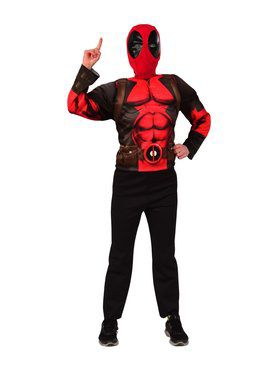 Deluxe Deadpool Costume and 2018 Halloween Masks Set