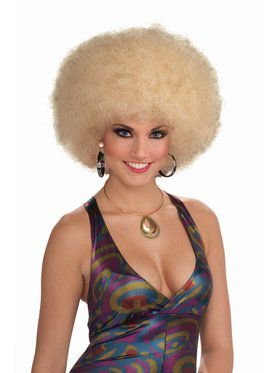 Deluxe Afro Wig - Mixed Blonde
