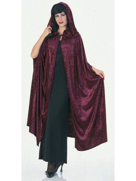 Deluxe Burgundy Velvet Adult Cape