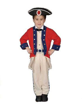 Deluxe Colonial Soldier Set Child Costum