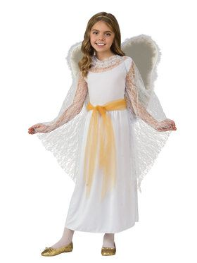 Deluxe Lace Girls Angel Costume