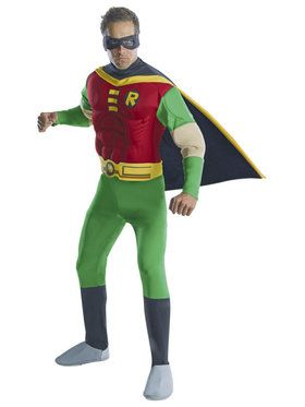 Adult Deluxe Muscle Chest Robin Costume