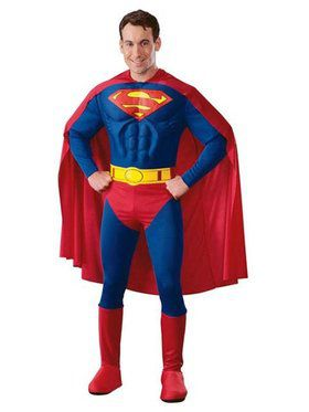 Deluxe Muscle Chest Superman (tm) Adult