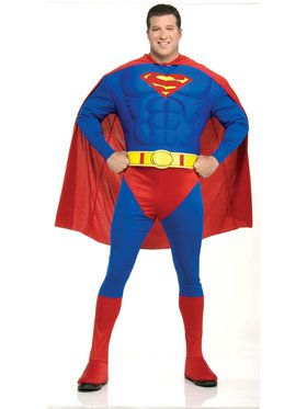 Deluxe Superman Muscle Suit Costume for Adults (Plus Size)